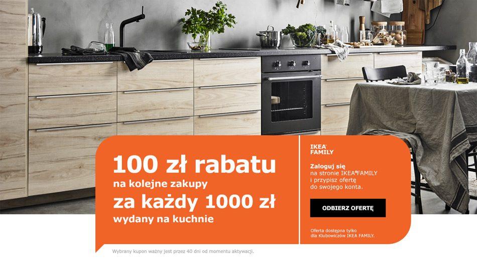 Promocja Ikea 100 Zł Za Każde Wydane 1000 Zł Na Kuchnie
